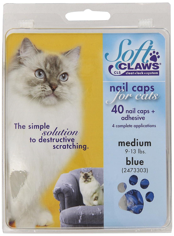 Soft Claws Kit de Protège-Griffes SoftClaws pour Chats Adultes Bleu - MEDIUM ZX249 120 202