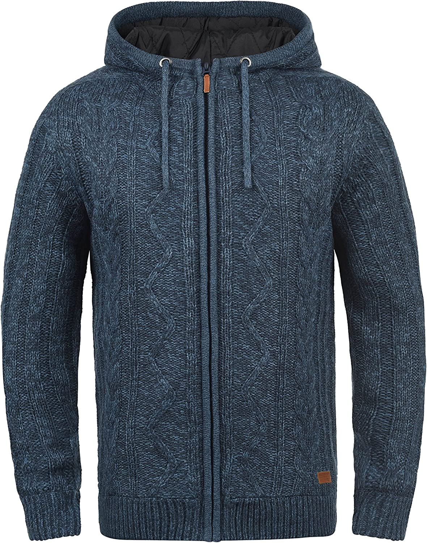 BLEND Galvan Herren Strickjacke Zip-Jacke mit Kapuze aus hochwertiger Materialqualit/ät