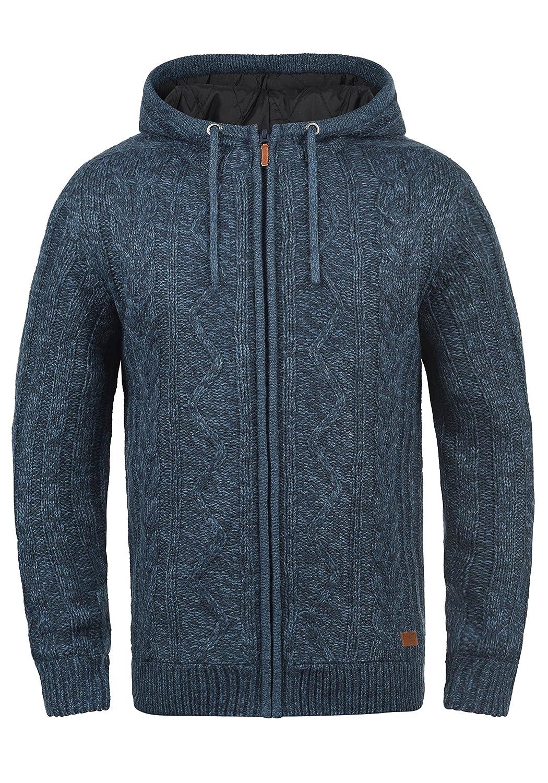 990da000554c BLEND Galvan Herren Strickjacke Zip-Jacke mit Kapuze aus hochwertiger  Materialqualität