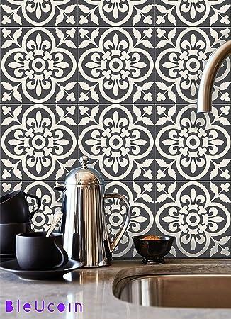 Encaustic Moroccan Kitchen Bathroom Tile Stickers, Stair Riser Vinyl Decal,  Peel U0026 Stick DIY Amazing Ideas