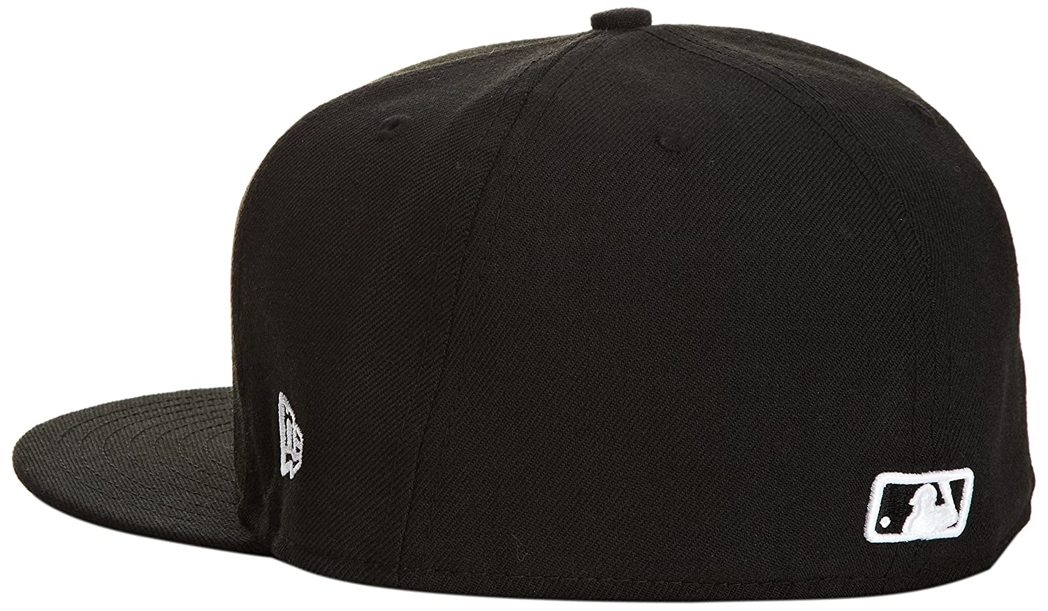 75bd90a419975 Amazon.com   New Era MLB Black with White 59FIFTY Fitted Cap   Sports    Outdoors