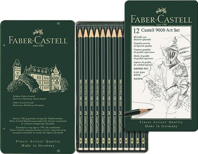 Faber Castell 9000 - Set de 12 lápices para dibujo artístico: Amazon.es: Oficina y papelería