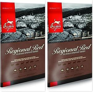 Orijen Regional Red Dry Dog Food Bundle (2) 13 lb. Bags to Keep Your Dogs Food Fresh Longer (2 Bags)