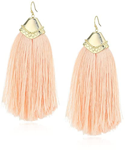 sale off snag this peach in top tassel earrings shop francescas hot elaine knot
