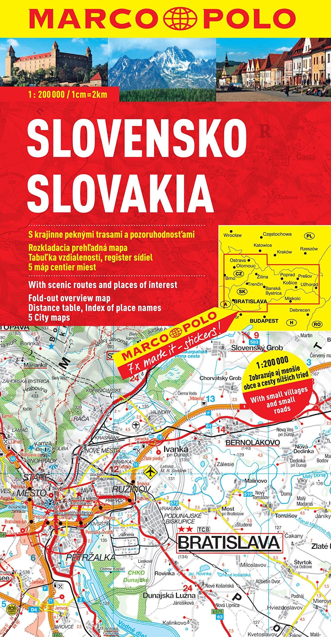 MARCO POLO Karte Slowakei (MARCO POLO Karten 1:200.000)