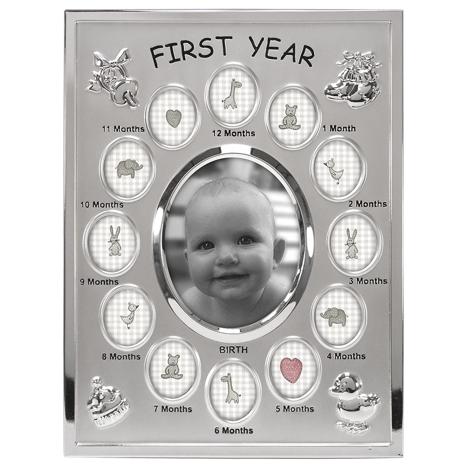 Amazon malden international designs babys first year collage amazon malden international designs babys first year collage picture frame 13 option 1 35x4 12 1x1 silver baby jeuxipadfo Images