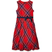 Tommy Hilfiger Girls' Adaptive Dress with Velcro Brand Closure at Shoulders