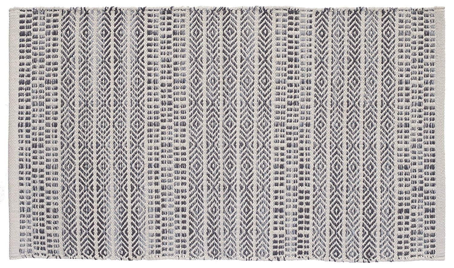 HF by LT Handwoven Sahara Jacquard Rug, 27'' x 45'', Natural and Grey by HOME FURNISHINGS BY LARRY TRAVERSO (Image #2)