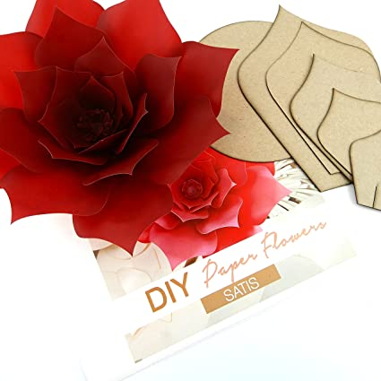 Amazon Paper Flower Template Kit Pattern Diy Craft Giant Paper