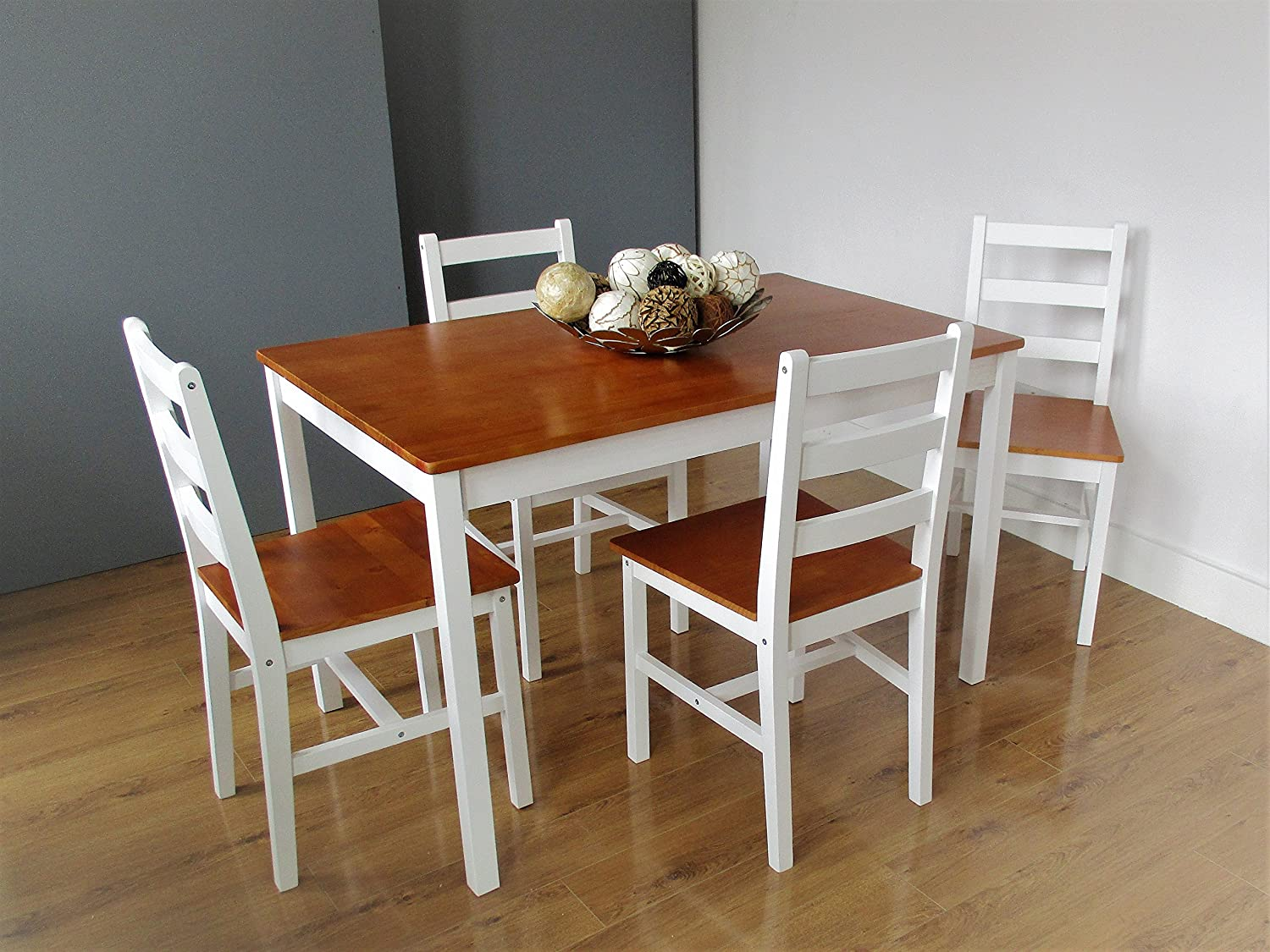 Miraculous Modena Wooden Dining Table With 2 Or 4 Chairs And Bench By Smart Design Furnishings 4 Seats Caraccident5 Cool Chair Designs And Ideas Caraccident5Info