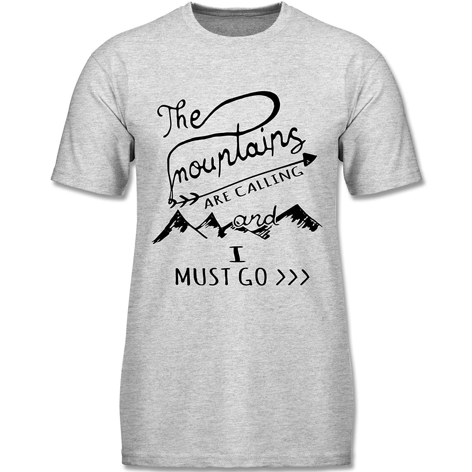 Wintersport - The Mountains are calling - kurzärmeliges Rundhalsausschnitt T-Shirt für Herren, Valueweight T