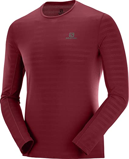 Salomon Men's Long Sleeve Sports T Shirt, AGILE LS TEE M
