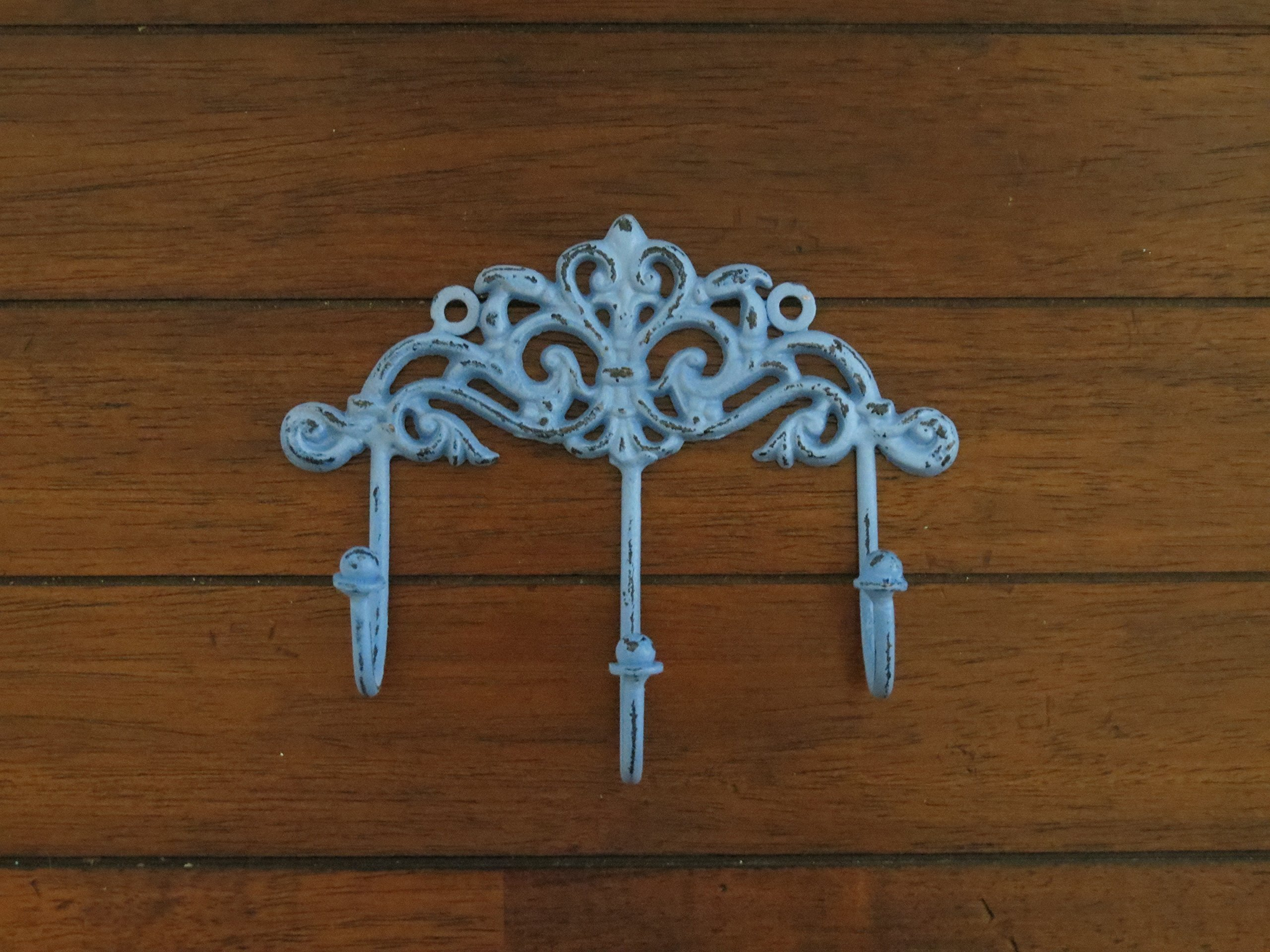 Shabby Chic Wall Hook/ Cottage Chic Hook/Key Hanger/ Spa Blue or Pick Your Color / Key Hook Rack/ French Cottage/ Towel Hook
