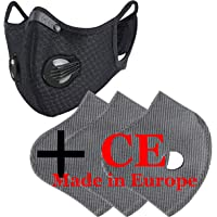 Set Masker Gezichtsmasker Ademend Anti Stof Met 3 filter met 5 Lagen Filter Unisex Maskers Running Dust Cover Fietsen…