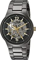 Bulova Men's Automatic Stainless Steel Casual Watch, Color:Grey (Model: 45A137)