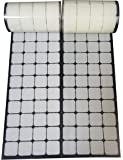 """1"""" White Square Straps 168 Pairs Self Adhestive Hook And Loop Strips With Waterproof Sticky Glue Fastener"""