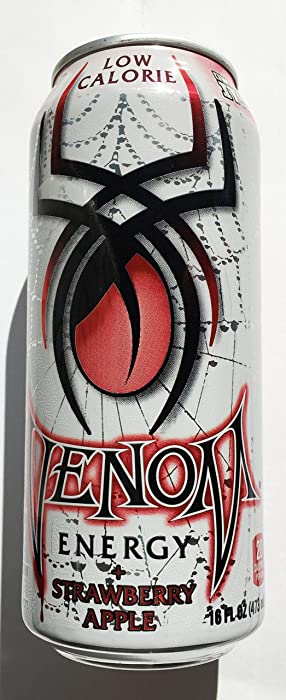 8 Pack - Venom Energy - Low Calorie Strawberry Apple - 16oz.+Energy Drink Outlet Sticker