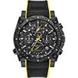 Bulova Men's Stainless Steel Quartz Sport Watch with Rubber Strap