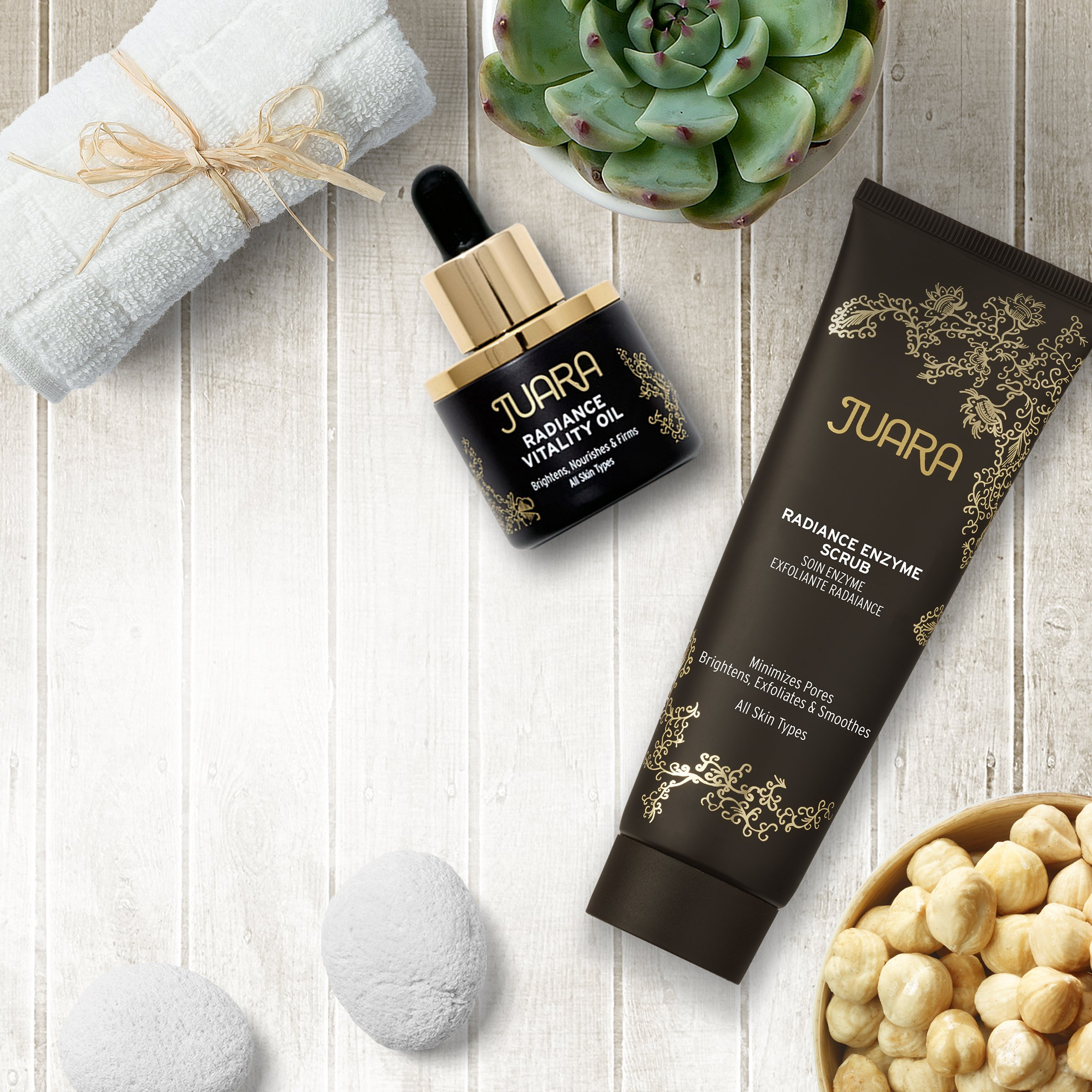 JUARA Radiance Enzyme Scrub - Facial Enzyme Scrub - Physical Exfoliant Enzyme Facial Scrub for All Skin Types - Enzyme Exfoliant for Face - Dermatologist Tested (1 Pack)