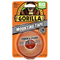 Deals on Gorilla Tough & Clear Double Sided Mounting Tape, 1-in x 60-in