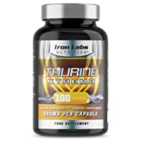 Taurine Xtreme - 500mg x 100 Vegetarian Capsules   High Quality Taurine Sports Supplement   UK Made & Results Guarantee