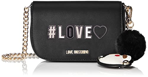 9f450b8e879 Love Moschino Borsa Pu, Women's Shoulder Bag, Black (Nero), 6x13x17 ...