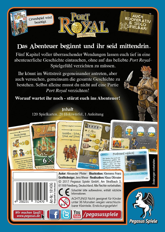 Pegasus Juegos 18143 g – Port Royal: El Aventura Comienza Tarjeta Parte: Amazon.es: Juguetes y juegos