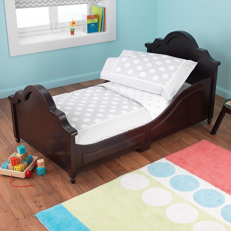 amazoncom kidkraft toddler spots and dots gray bedding set 4piece toys u0026 games