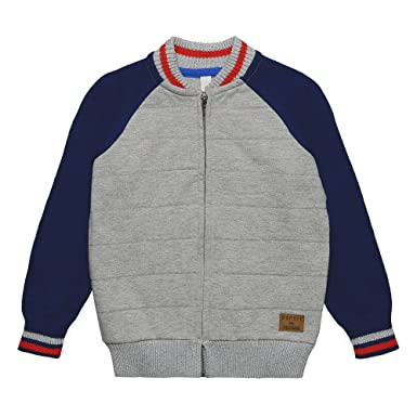 3132043e7a ESPRIT KIDS Jungen RK18044 Strickjacke, Grau (Light Heather Grey 221), 104