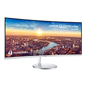 SAMSUNG LC34J791WTNXZA 34-Inch CJ791 Ultrawide Curved Gaming Monitor, White