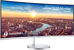 Samsung 34-Inch CJ791 Ultrawide Curved Gaming Monitor (LC34J791WTNXZA) - 100Hz Refresh, QLED Computer Monitor, 3440 x 1440p Resolution, 4ms Response, Stereo Speakers, White