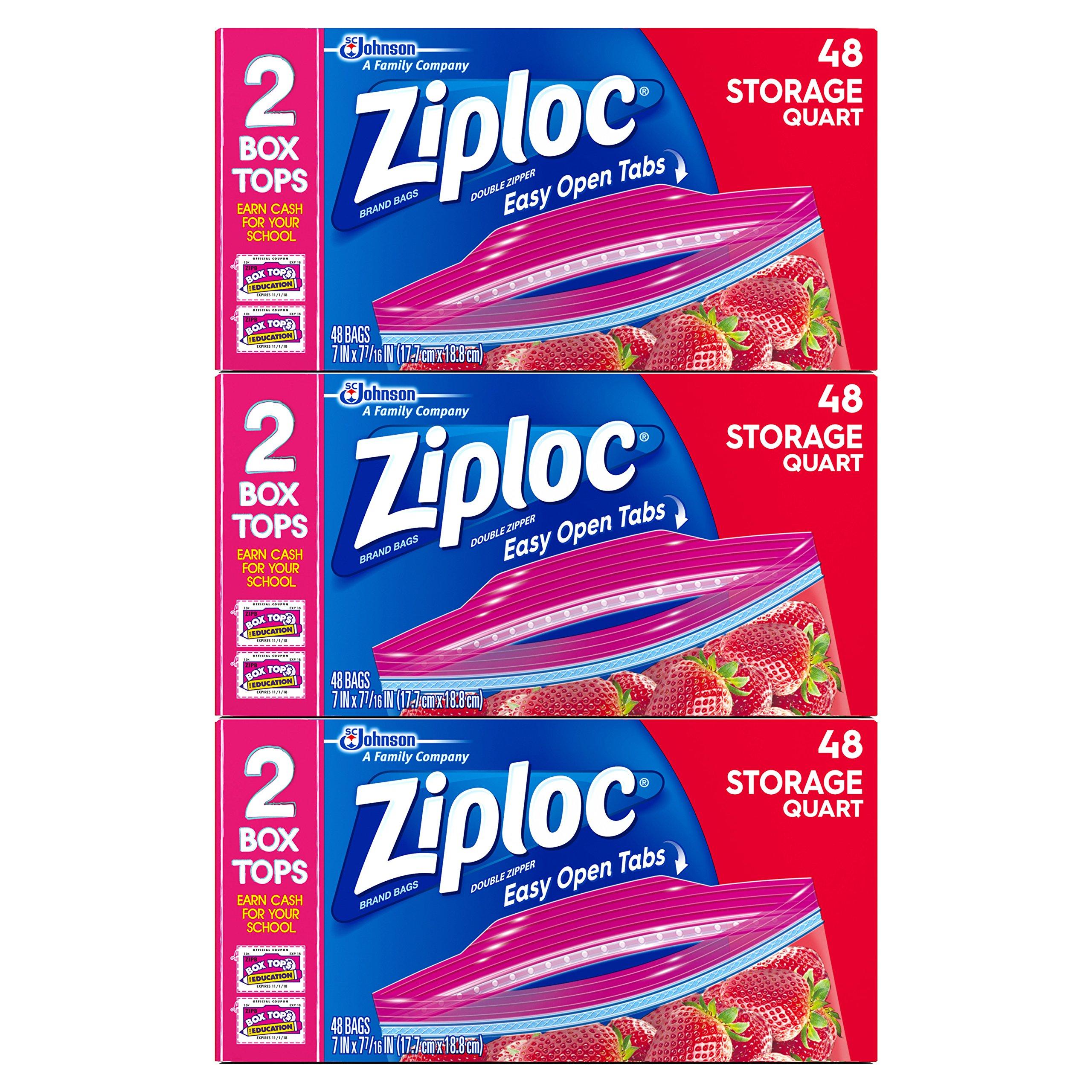 Ziploc Quart Storage Bags, 144 Count