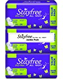 Stayfree Dry Max All Night Pads Jumbo Pack - 84 Pads (Extra Large)