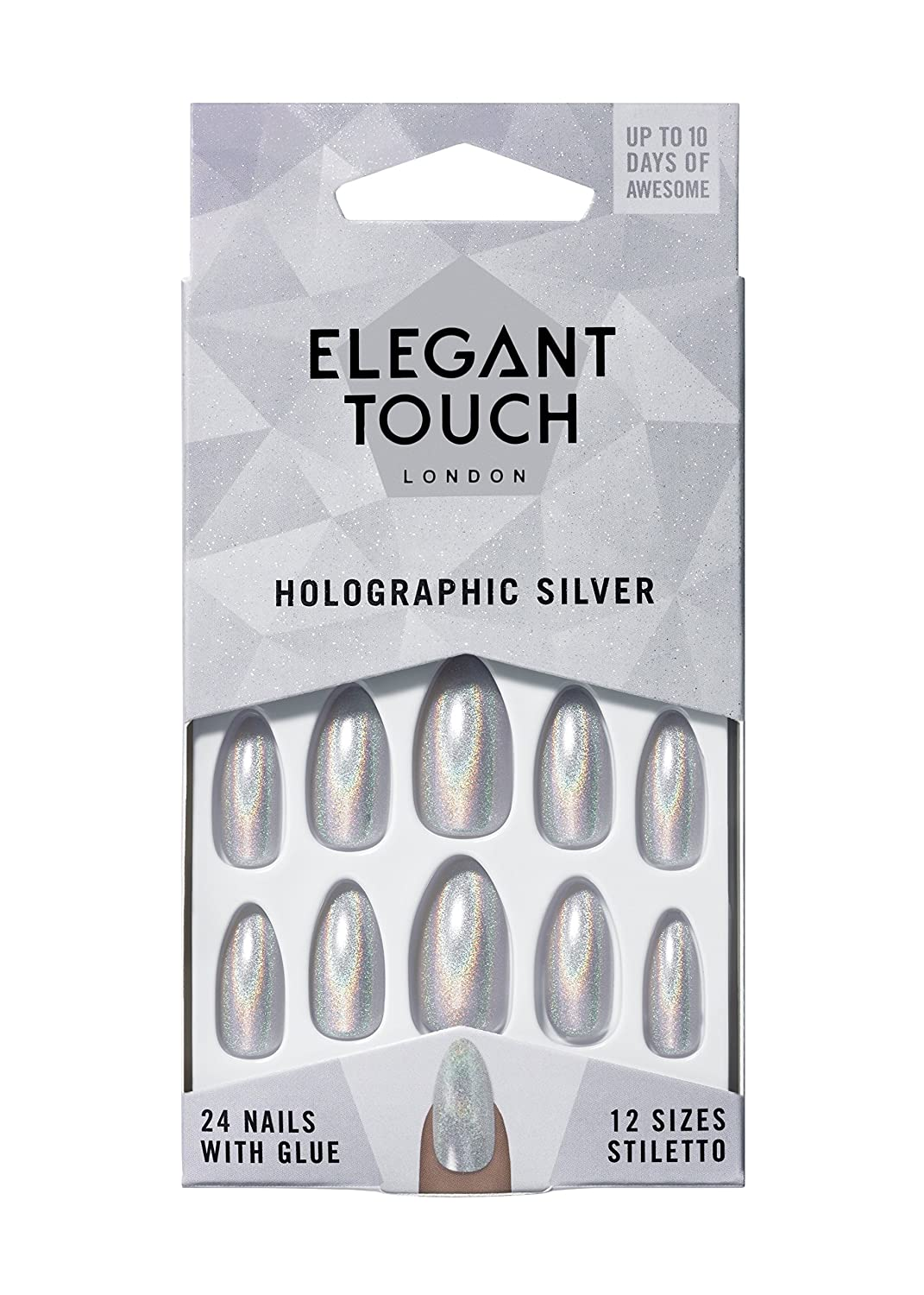 Amazon.com : Elegant Touch Coloured Nails Collection - Holographic ...