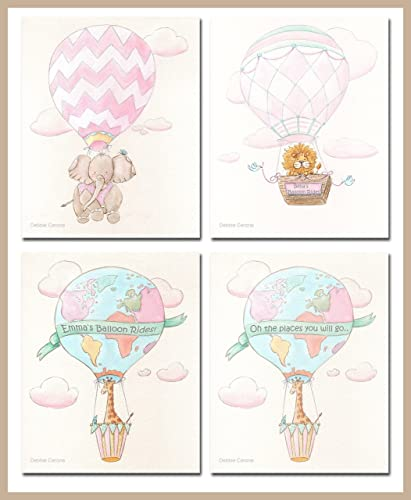 Amazon hot air balloon girls room art prints set of 3 hot air balloon girls room art prints set of 3 personalized dr gumiabroncs Choice Image