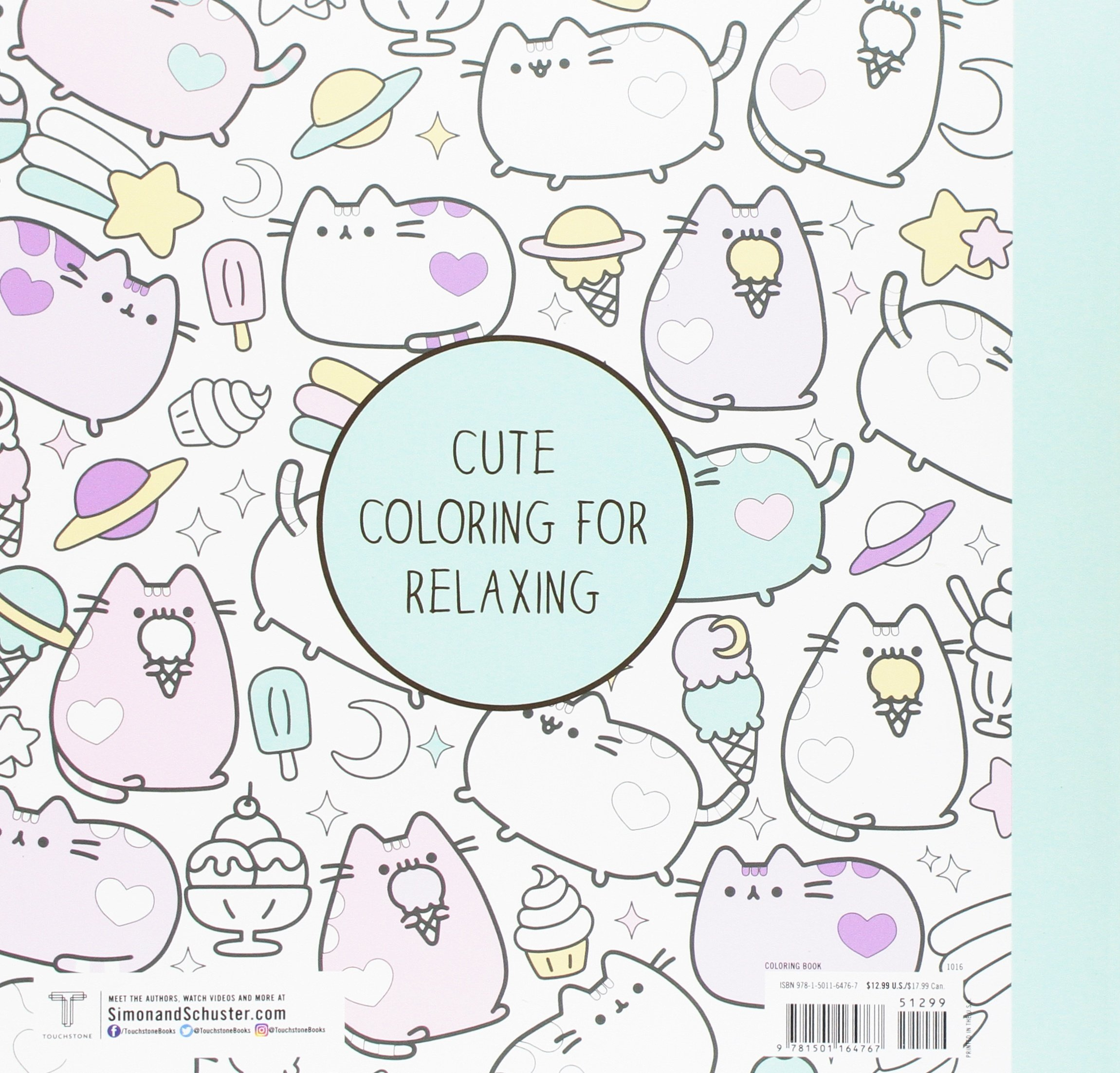 Amazon Pusheen Coloring Book 9781501164767 Claire Belton Books