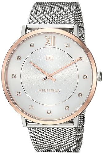 Tommy Hilfiger de la mujer 'sofisticado Sport de cuarzo reloj Casual, color: acero inoxidable de dos...