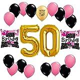 Happy 50th Birthday Balloon Decoration Kit