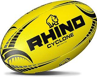 Rhino Cyclone Ballon de Rugby d'entraînement–Jaune Fluo RRBCY3