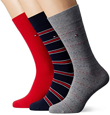 Pack 3 Pares Calcetines Tommy Jeans 39 Rojo