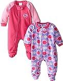 Gerber Baby Girls' 2 Pack Blanket Sleepers