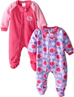 Gerber Baby and Little Girls' 2 Pack Blanket Sleepers