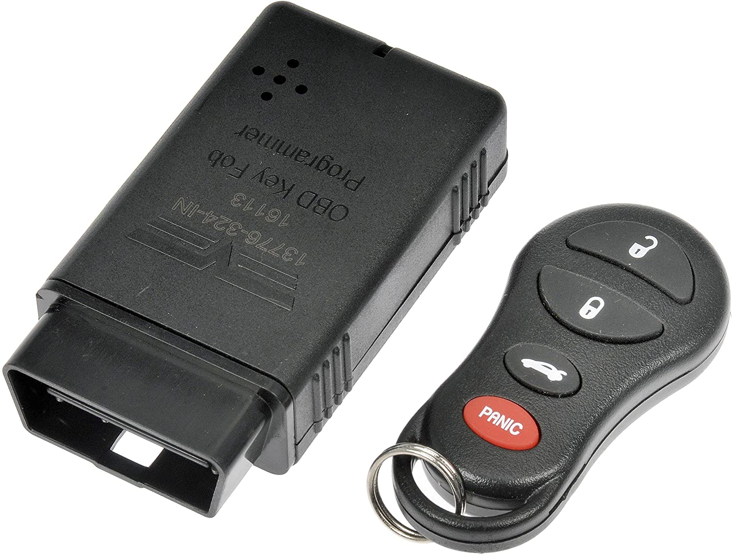 Keyless Entry Remote Key Fob Black with Programmer Dorman 13776