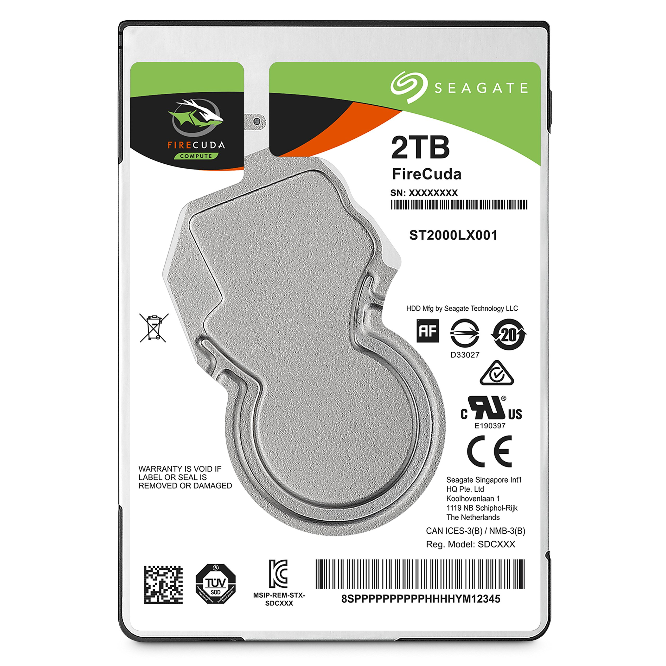 Seagate 2TB FireCuda Gaming SSHD SATA 6Gb/s 64MB Cache 2.5-Inch Hard Drive (ST2000LX001) by Seagate