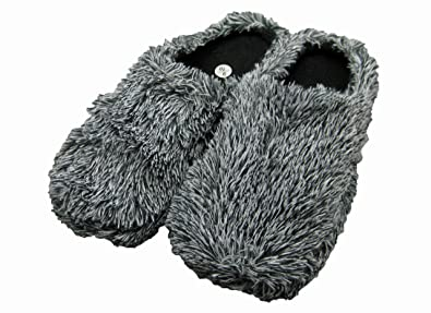 Amazon.com | Fashion Blue Cute & Comfy Fuzzy House Slippers for ...