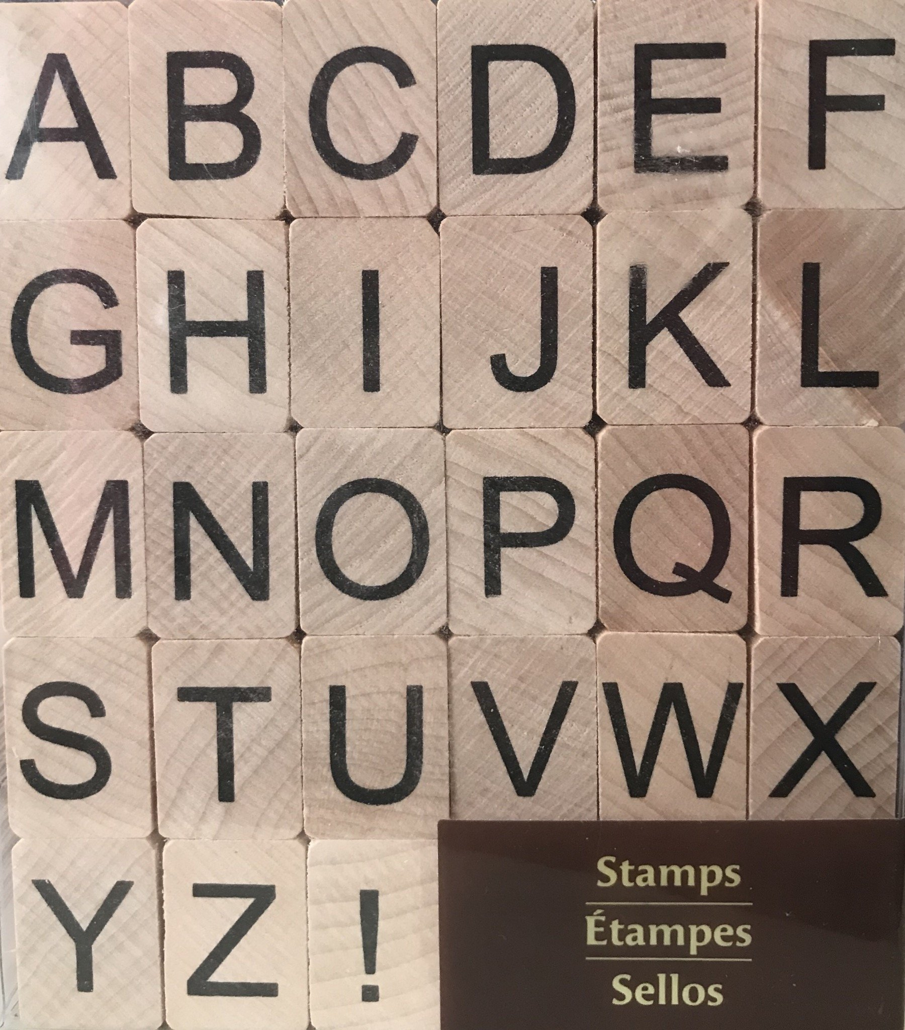 Recollections Alphabet Rubber Stamps