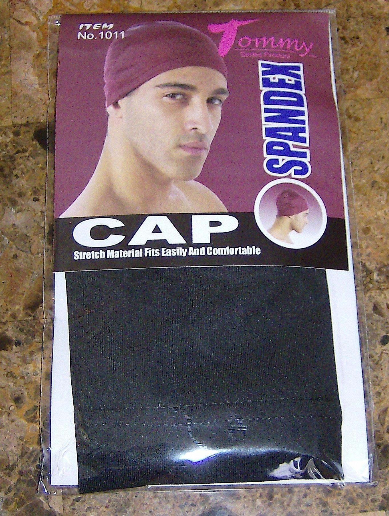 Tommy Spandex Cap Black Du Rag Doo Skull Cap New