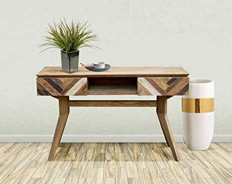 Amazon Com Recycled Teak Art Deco Console Table Tv Stand