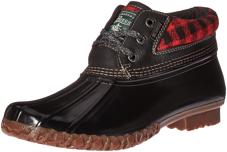 G.H. Bass & Co.. Women's Dorothy Rain Boot B01D0RM2UK 7 B(M) US|Red/Black Plaid/Black