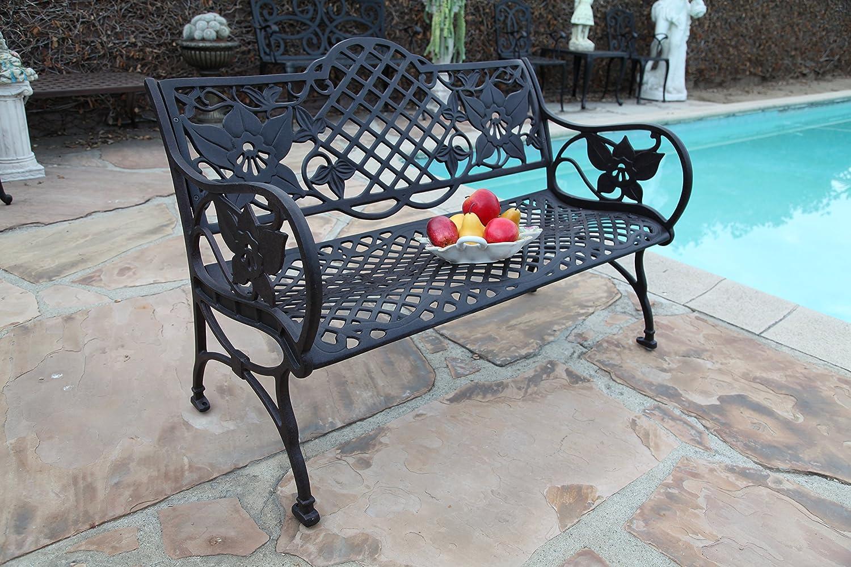 CBM Patio Furniture Solid Cast Aluminum Kawaii Collection Bench K DS-98B CBM1290